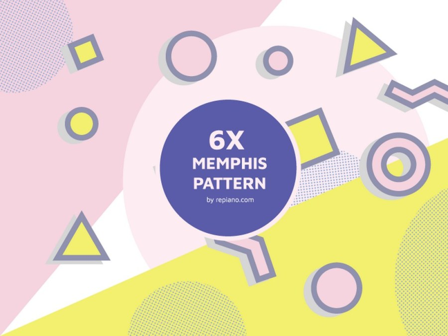 Memphis Style Pattern Pack
