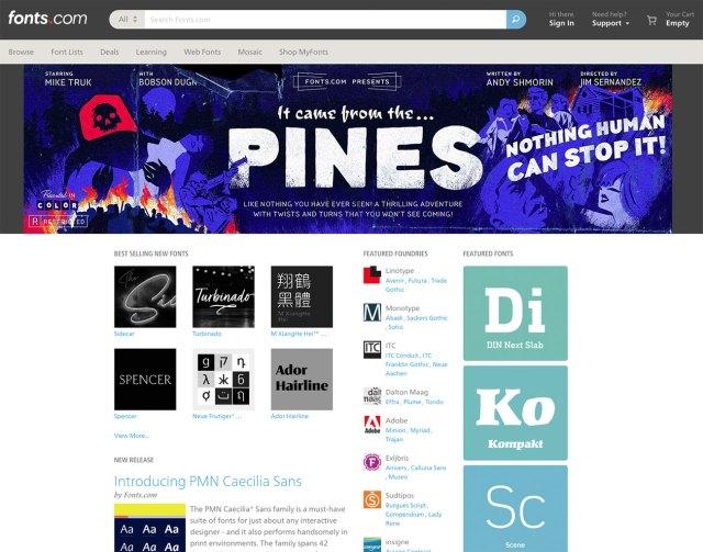 Top typography resources: Fonts.com