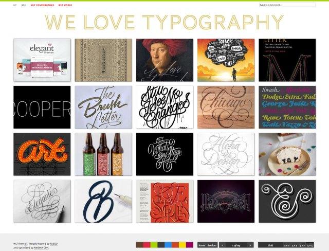 Top typography resources: We Love Typography