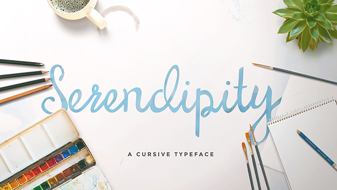 Sample of Serendipity typeface