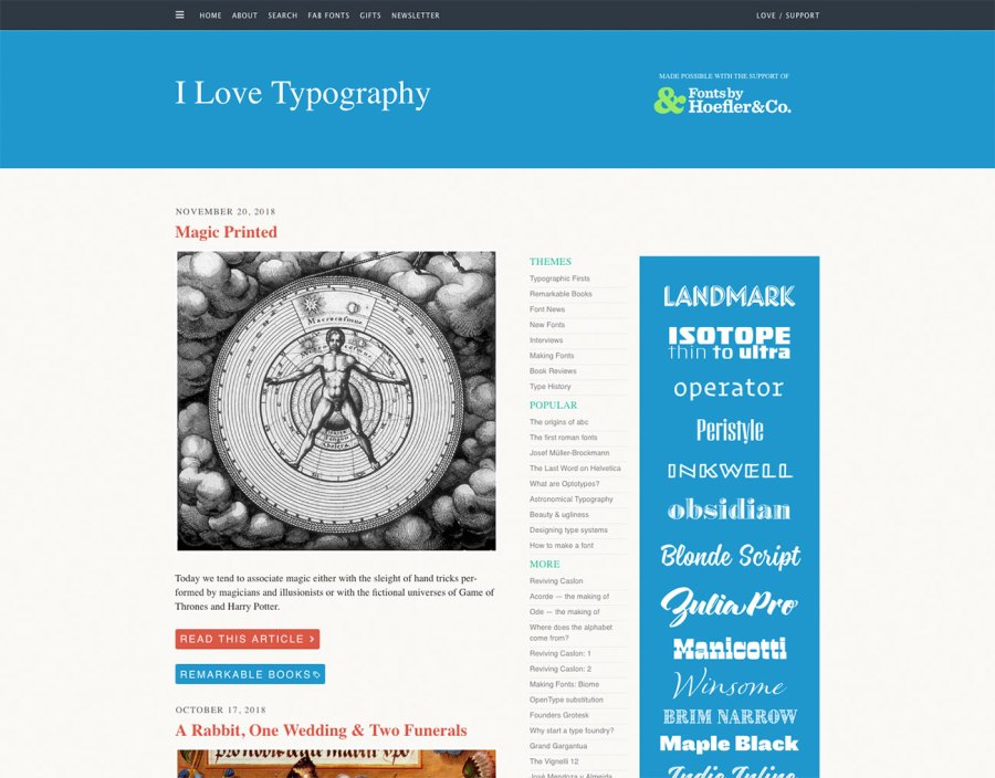 Top typography resources: I Love Typography