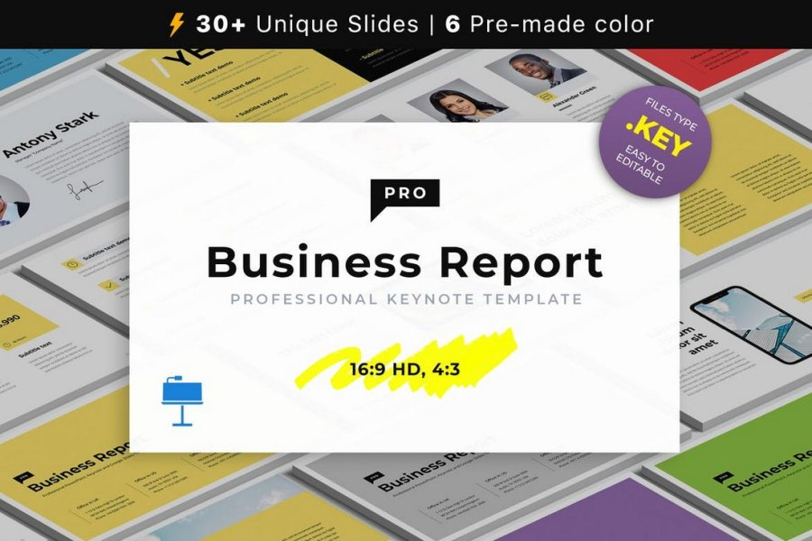 Business Report - Animated Keynote Template