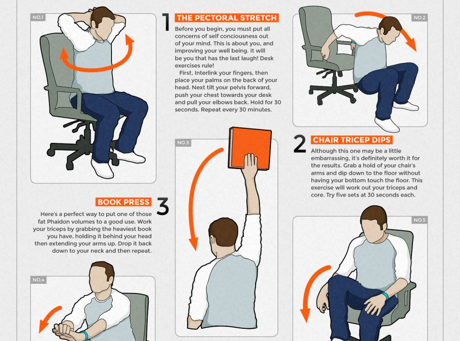 The best infographics: Desk exercises