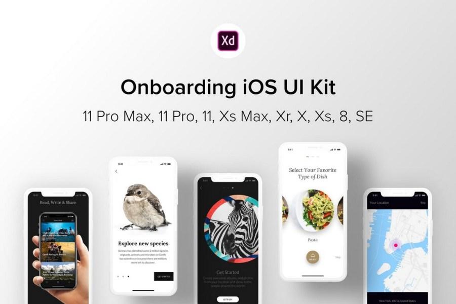 Onboarding iOS UI Kit for Adobe XD