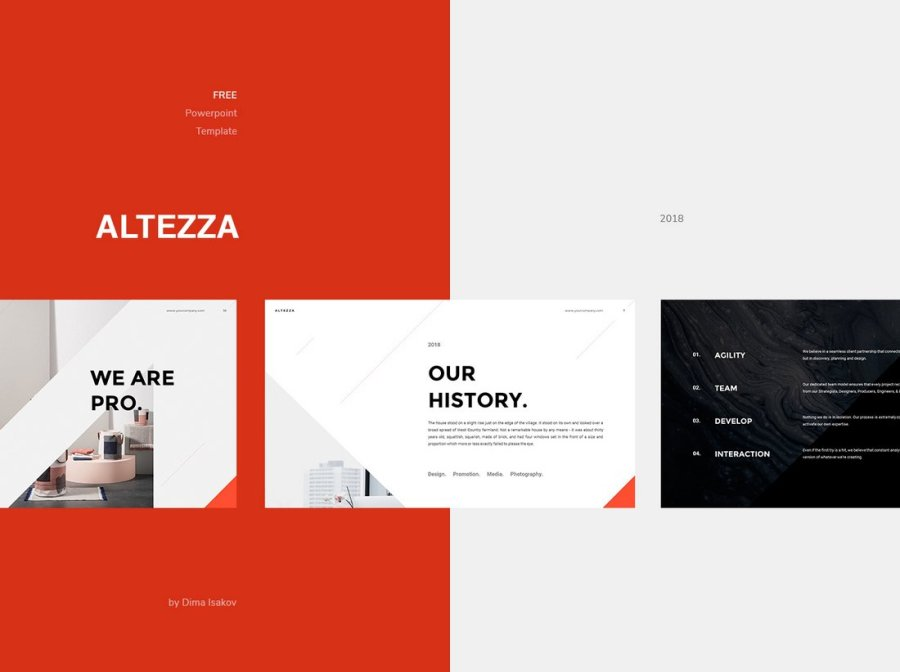 Altezza - Free Business PowerPoint Template