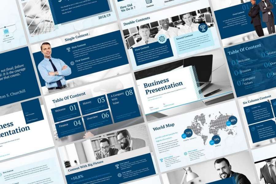Blue Business - Corporate PowerPoint Template