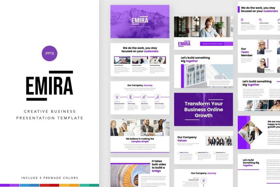 Emira - Creative Company PowerPoint Template