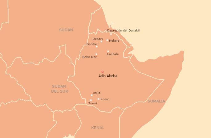 Itinerario Etiopía por libre 21 días