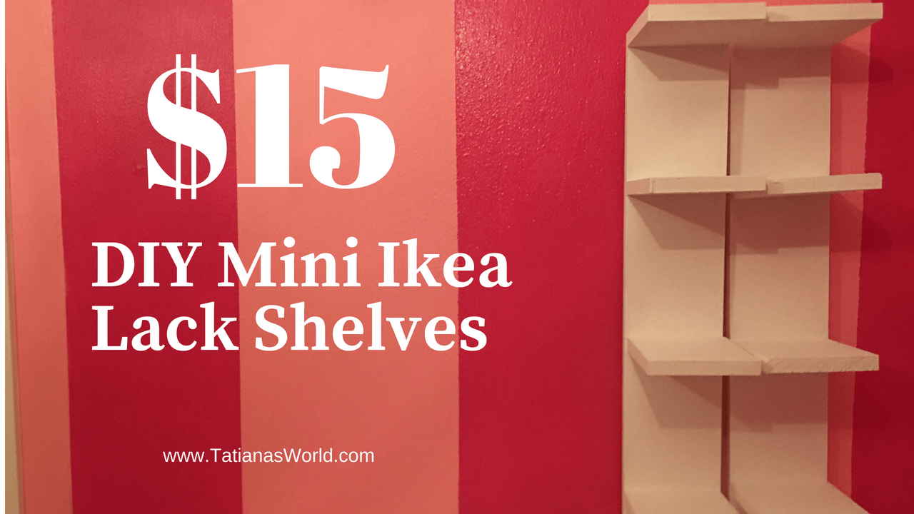 diy mini lack shelf dupe from ikea