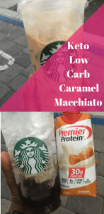 low carb caramel machiato starbucks keto macchiato drink recipe
