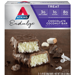 atkins low carb keto chocolate coconut bar thm snack ideas