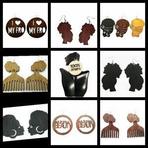 afrocentric earrings natural hair earrings jewelry fashion accessories