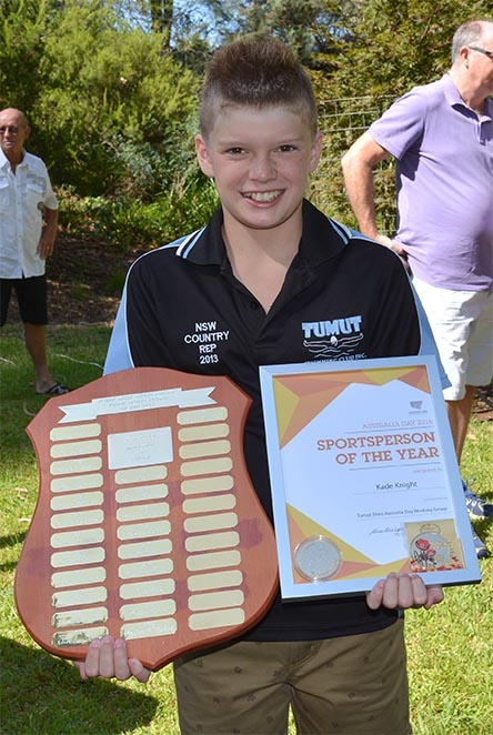 Swimming prodigy Kade Knight received Junior Sportsperson of the Year.