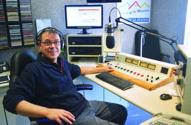 Sounds of the Mountains station manager Dave Eisenhauer will be able to broadcast emergency information more reliably.