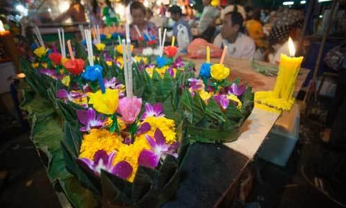 Loi Krathong 2014 Fair at Wat Saket, Bangkok