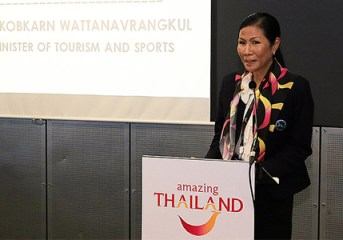 Thai tourism minister reiterates plans to position Thailand as a Quality Leisure Destination through Thainess at WTM 2015