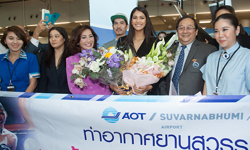 TAT welcomed Miss Universe Thailand 2015 back to Thailand
