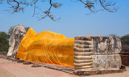 Thailand Ayutthaya wat-lokkayasutharam