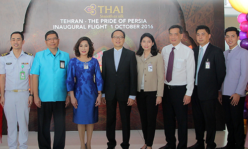 THAI launches first flight to Tehran, Iran