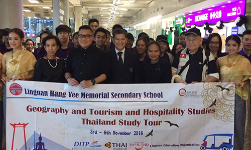 TAT Hong Kong welcomes teachers and students from Lingnan Hang Yee Secondary School to experience Thainess