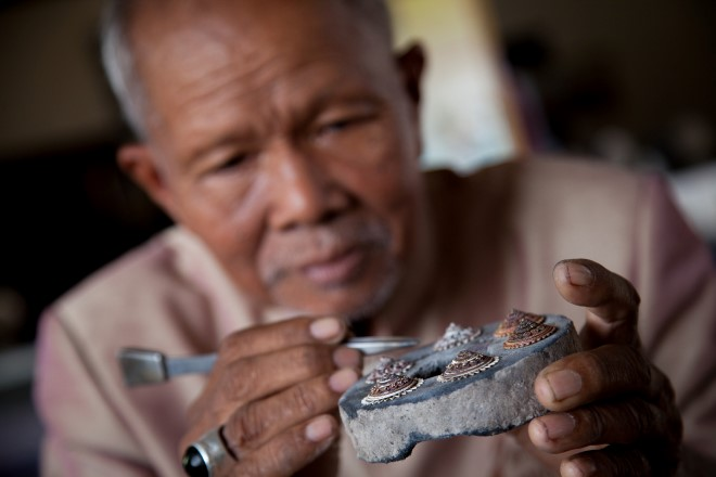 Lung Puan, the silversmith of Surin