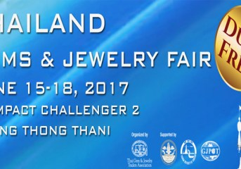 TAT supports the debut of Thailand Gems and Jewelry Fair in June 2017