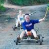 Wooden go-kart racing at Thailand's Mon Chaem Hill