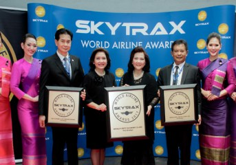 Thai Airways wins three first place Skytrax Awards 2017
