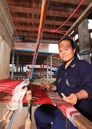 Thai silk at Kalasin Ban Phon Phrae Wa Silk Weaving Group, Kalasin