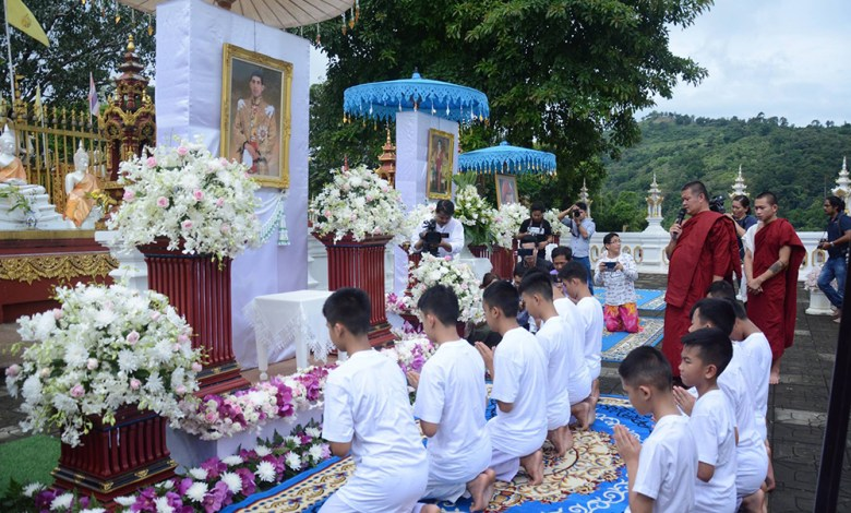 Tham Luang Cave survivors ordained into monkhood - NNT