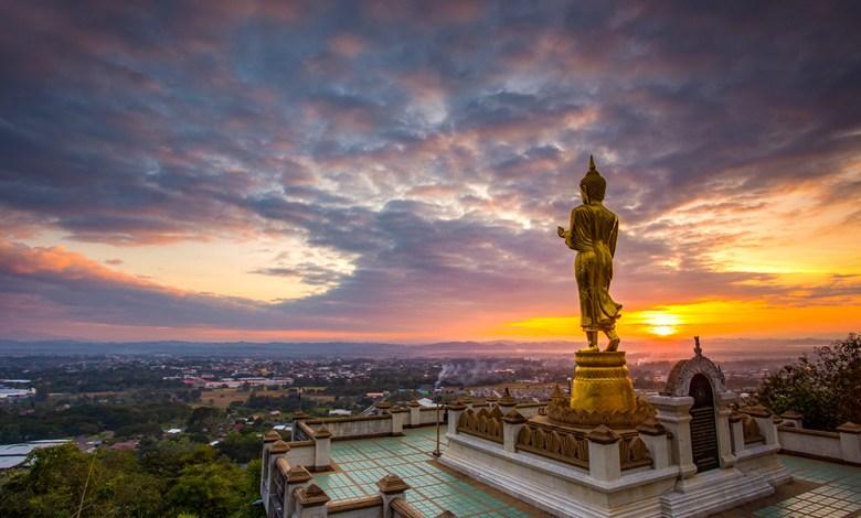 Phra Phuttha Maha Udom Mongkhon Nanthaburi Si Nan Buddha Image in Phrathat Khao Noi Temple, Nan