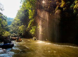 Rafting at Thi Lo Cho Waterfall or Namtok Saifon