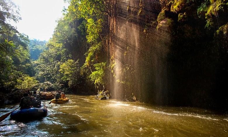 Rafting at Thi Lo Cho Waterfall or Namtok Saifon