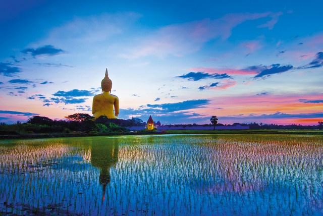 The Buddha image in Wat Muang, Ang Thong