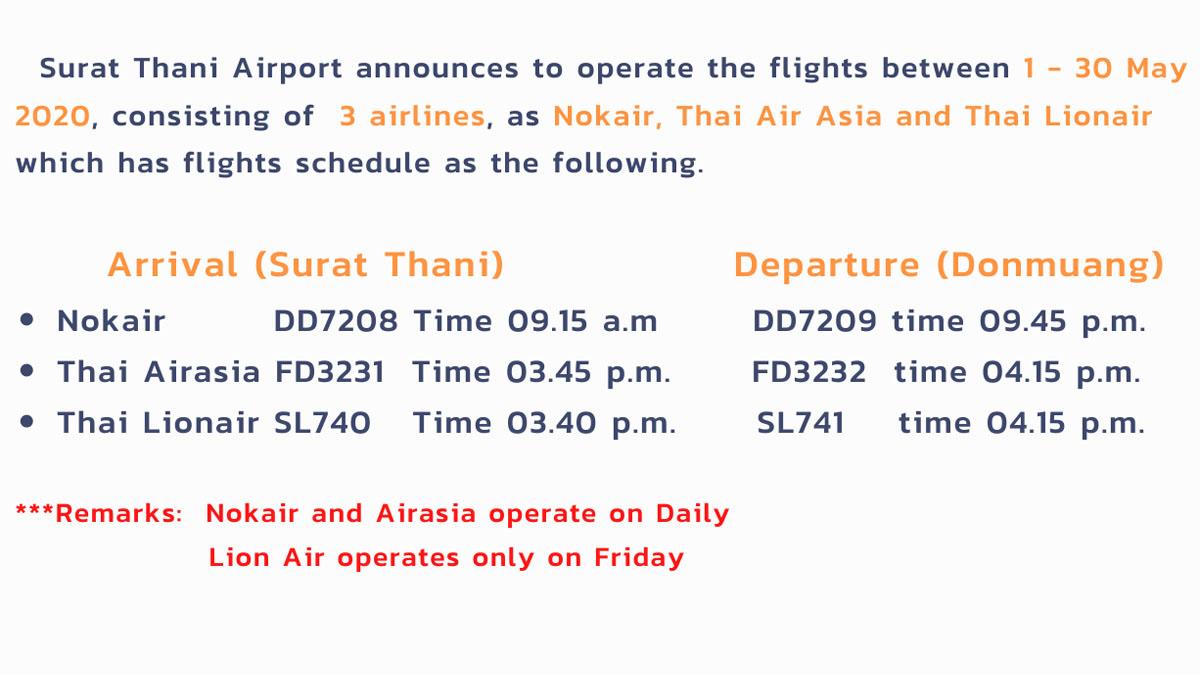 Surat Thani Airport resumes operations