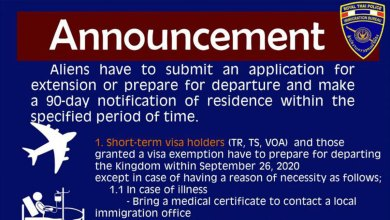 Thailand extends visa relief for foreigners until 26 September 2020