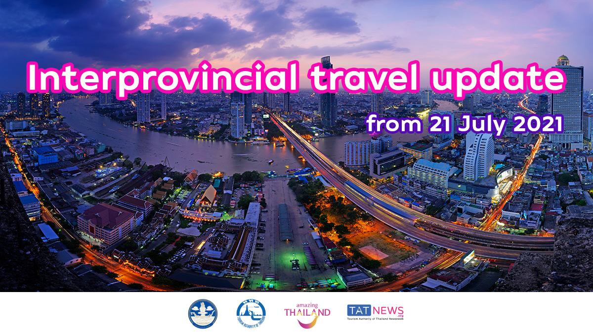 Interprovincial travel services adjusted from 21 July 2021