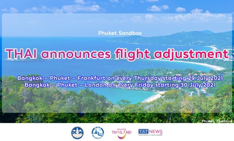 THAI adjusts flights between Phuket and European cities
