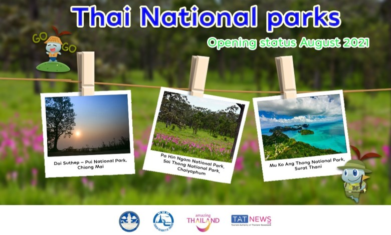 60 Thai national parks reopen to visitors from August 2021