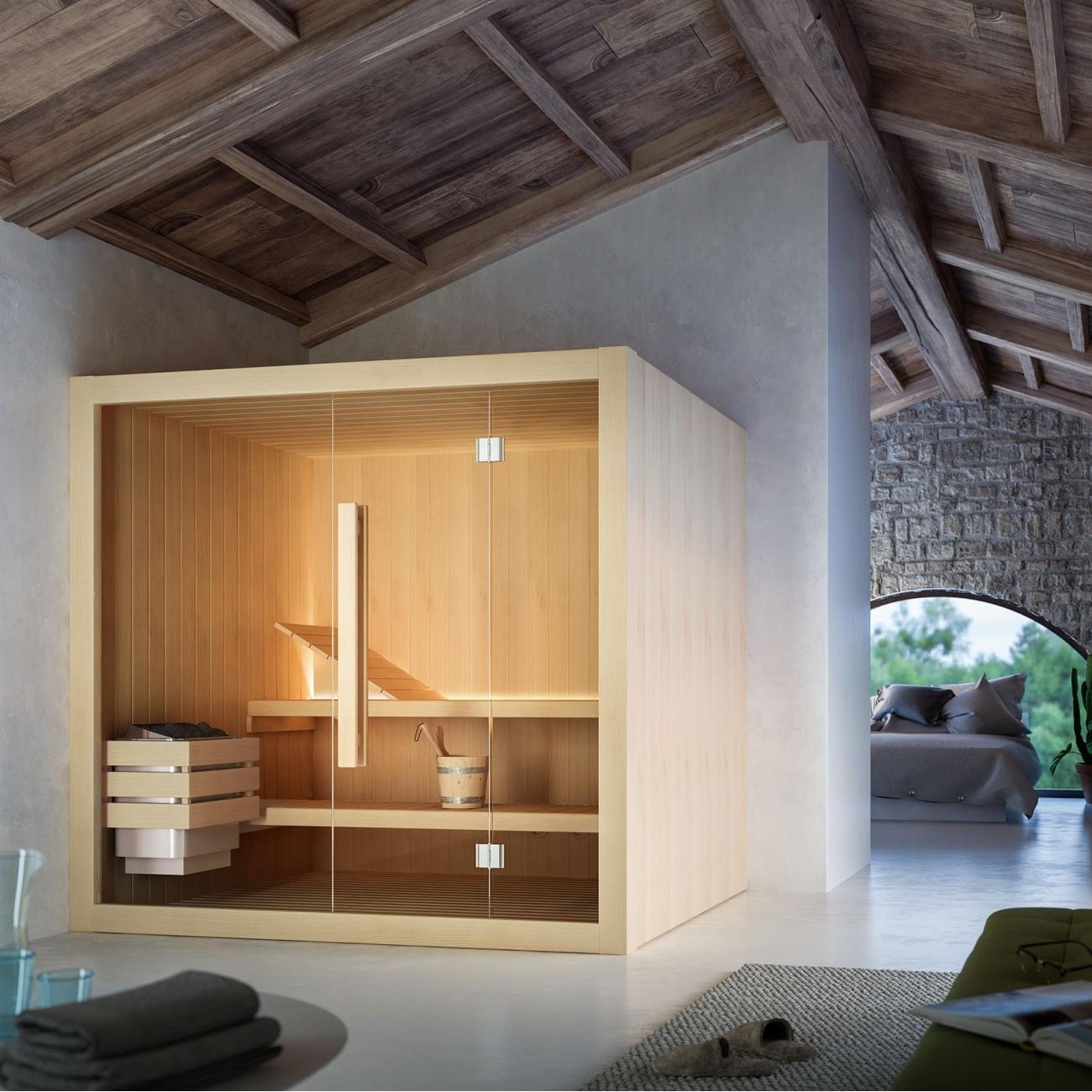 Glass Hoshi Finnish Sauna 210x135 Tattahome