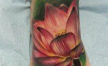 tatouage lotus couleur mistika