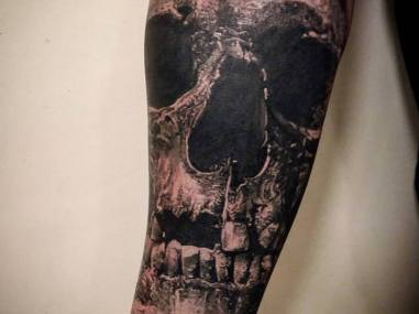 skull tattoo mistika
