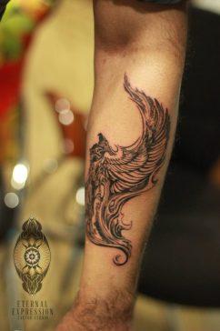 Tribal Phoenix Tattoo Bangalore India