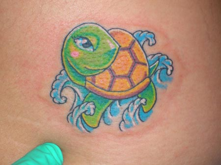 cartoon turtle tattoos. Black Bedroom Furniture Sets. Home Design Ideas