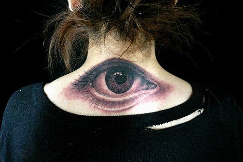 unique eyeball tattoo design