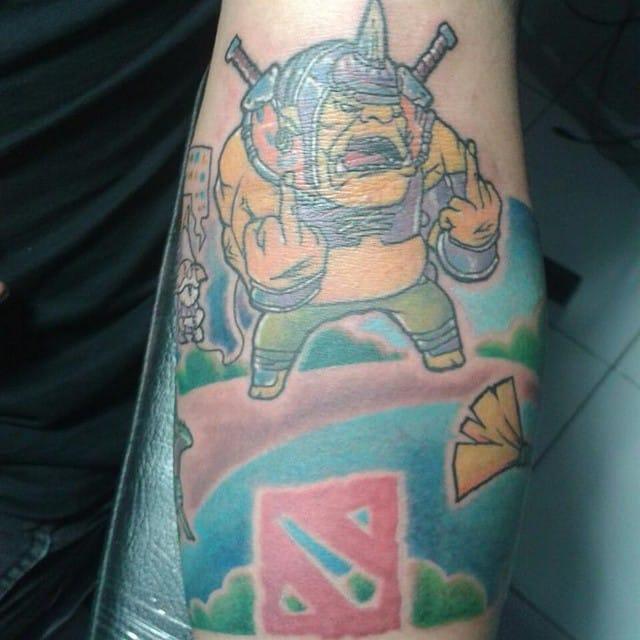 Dota 2 Fan Gets Team Alliance Tattoo Tattoodo