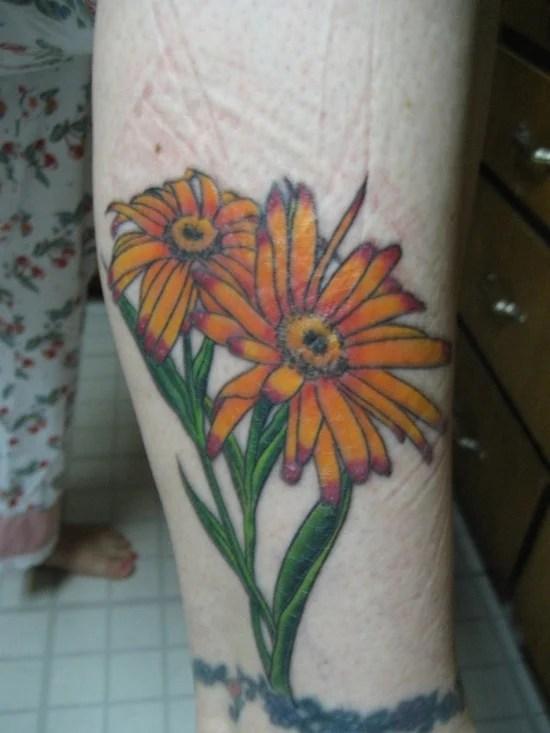 daisy tattoo (2)
