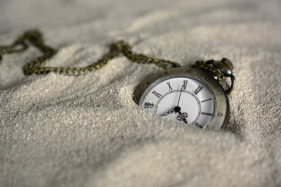 Stopwatch Clock in Sand