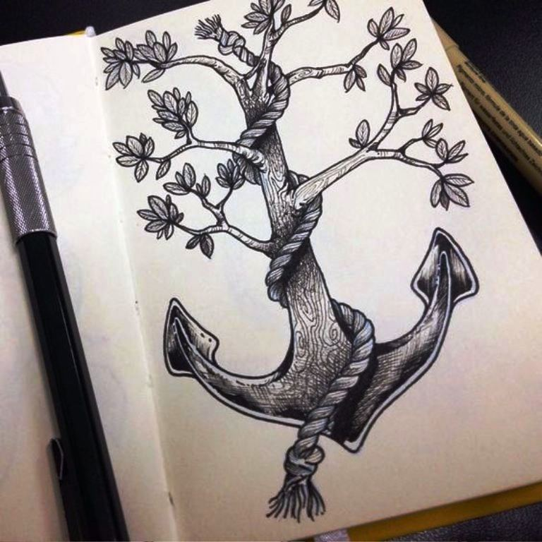 TattooMix Dövmecim çapa anchor dövmeleri (14)