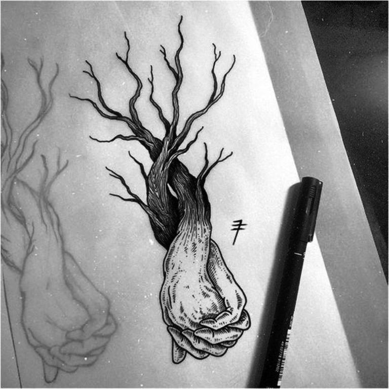 TattooMix Dövmecim ağaç tree dövmeleri (13)
